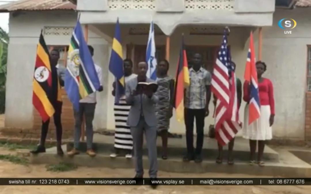 30 nationer deltog i förbön för den världvida coronakrisen