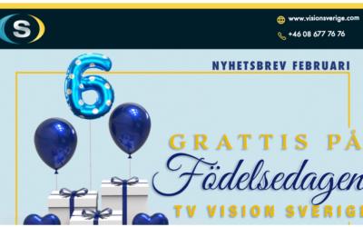 Tv Vision Sverige fyller 6 år!
