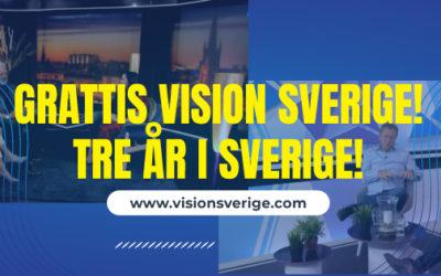 Grattis Vision Sverige, hälsning från tekniker Ruben